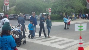 Learning to walk in the middle of the crosswalk!