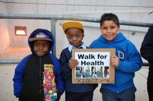 Students made signs about walking for health!